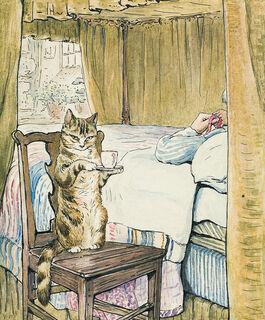 Helen Beatrix Potter: Simpkin at the Tailor's Bedside