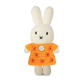 Miffy crochet toy with sunflower dress