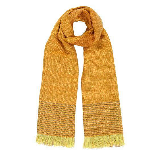 Ochre hand woven wool scarf