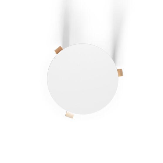 Alvar Aalto white lacquered Stool 60