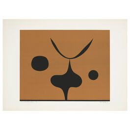 Paule Vézelay, Black Silhouettes on Brown, 1976 limited edition