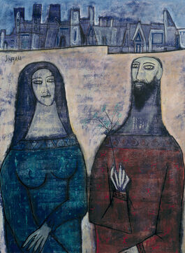 Francis Newton Souza: Two Saints in a Landscape