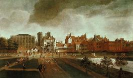 Hendrick Danckerts: Whitehall from St James's Park