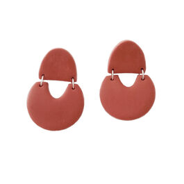 Rust geometric earrings