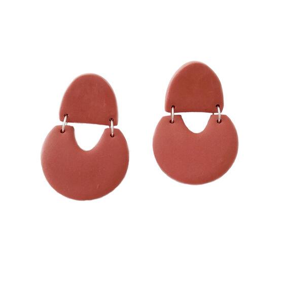Rust geometric earrings
