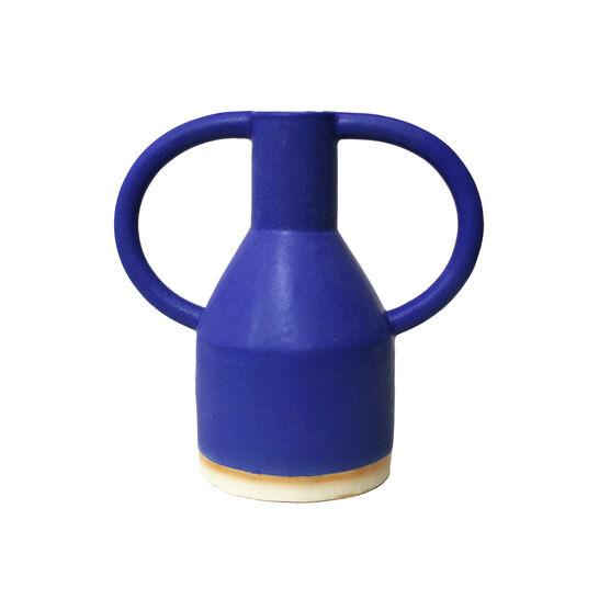 Blue eared vase