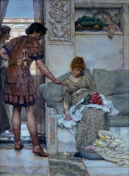 Alma-Tadema: A Silent Greeting