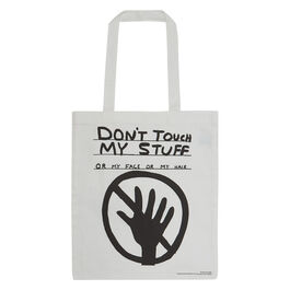 David Shrigley Don't Touch My Stuff tote bag