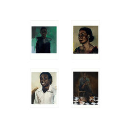 Set of four Lynette Yiadom-Boakye's artwork postcards