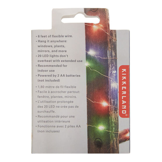 Multi-coloured string lights