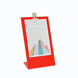 Red clipboard frame