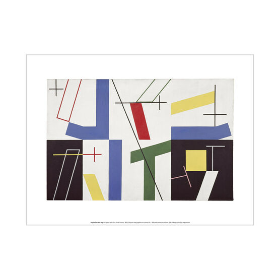 Sophie Taeuber-Arp Six Spaces with Four Small Crosses exhibition art print
