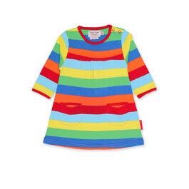 Multi-stripe toddler dress