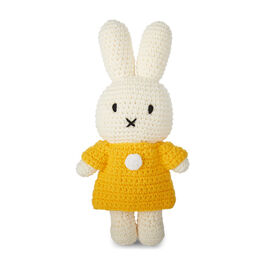 Miffy crochet toy with yellow dress