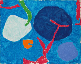 Patrick Heron: Four Blues with Pink