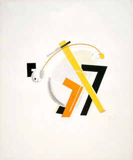 Lissitzky : 8. Old Man (Head 2 Steps behind), from Figurines