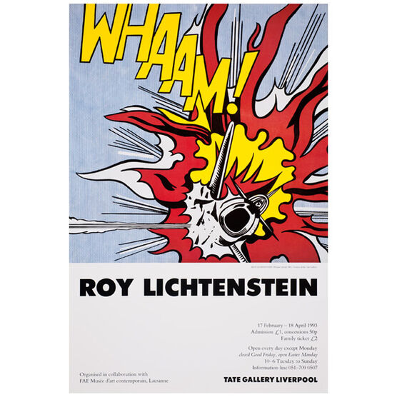 Roy Lichtenstein (Tate vintage poster reproduction) | Tate