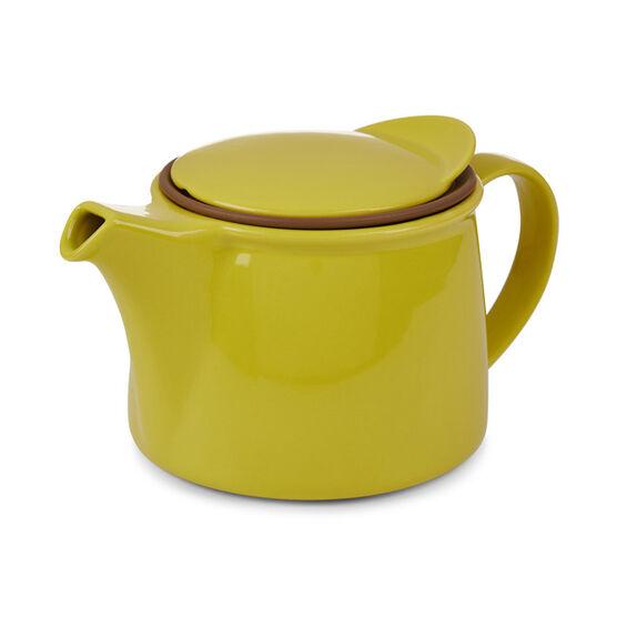 Kinto chartreuse porcelain brim teapot