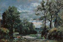 John Constable: A Lane Near Flatford