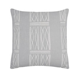 Paule Vézelay grey linen blend cushion