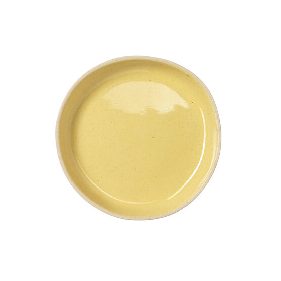 Buttermilk yellow ceramic plate