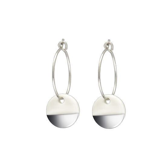 Silver dipped porcelain earrings