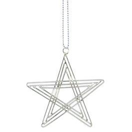 Silver star decoration