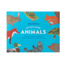 Cut out & make British animals kit