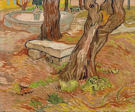 Vincent van Gogh: The Stone Bench in the Asylum at Saint-Remy