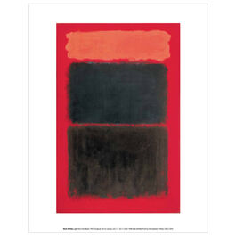 Mark Rothko Light Red Over Black (mini print)