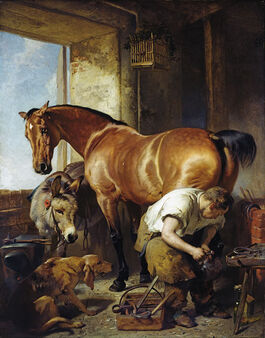 Landseer: Shoeing exhibited
