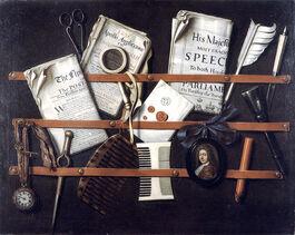 Edward Collier: Trompe l'oeil Letter Rack