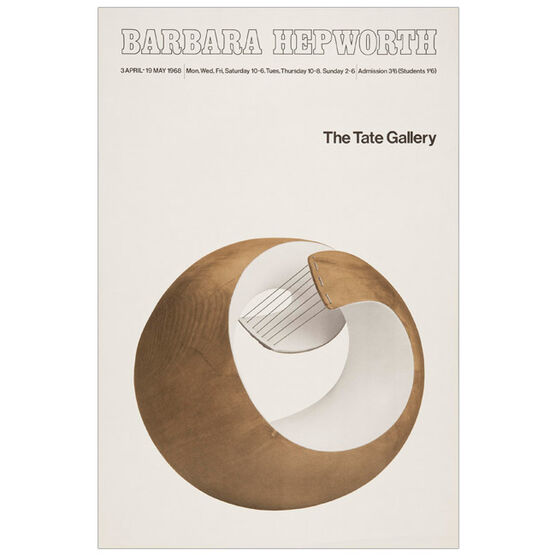 Barbara Hepworth: 1968 vintage poster