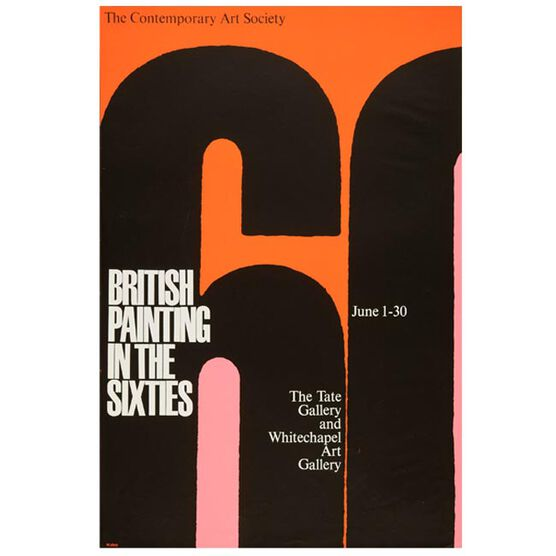 British Painting in the Sixties 1963 vintage poster