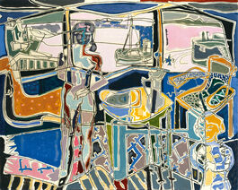 Patrick Heron: Harbour Window with Two Figures