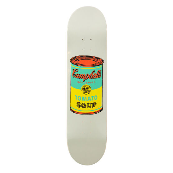 Warhol: Campbell's Soup Can skateboard - pale grey