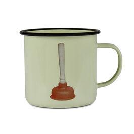 Plunger enamel mug