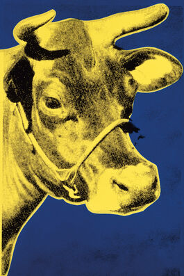 Andy Warhol: Cow (blue & yellow)