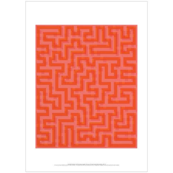 Anni Albers: Red Meander I poster