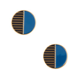 Tom Pigeon circle enamel earrings