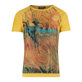 Van Gogh Pollarded Willows, Arles silk t-shirt