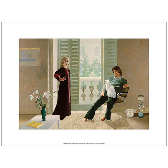 Hockney Mr and Mrs Clark and Percy (unframed print)