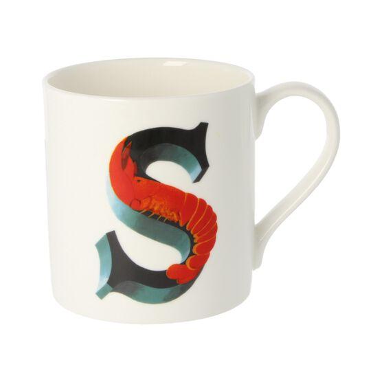 Alphabet of art mug - S