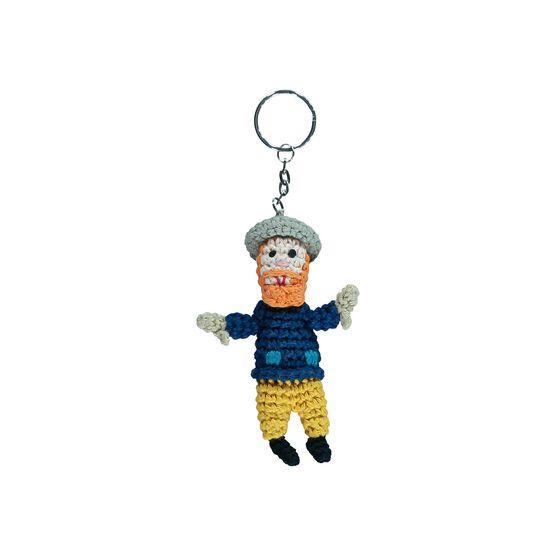 Van Gogh crochet keyring
