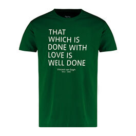 Van Gogh green quote t-shirt