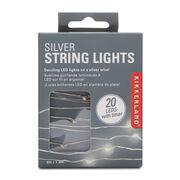 Silver string lights
