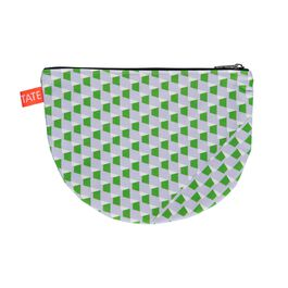 Laura Spring geometric purple and green pouch