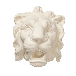 Ornamental plaster cast lion's head