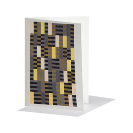 Anni Albers: Black White Yellow greetings card