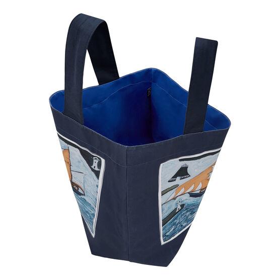 Alfred Wallis Blue Ship beach bag